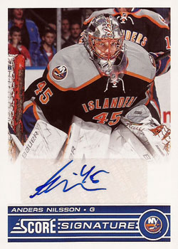 ANDERS NILSSON Memorabilia Hockey Card