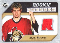 ANDREJ MESZAROS Memorabilia Hockey Card