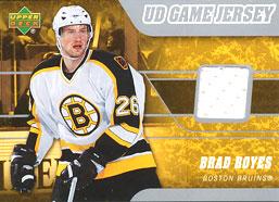 BRAD BOYES Memorabilia Hockey Card