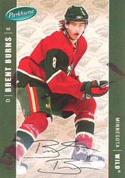 BRENT BURNS Memorabilia Hockey Card