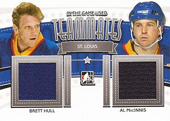 BRETT HULL /AL MACINNIS Memorabilia Hockey Card