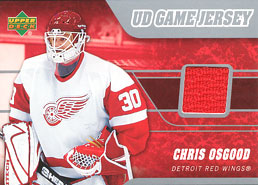 CHRIS OSGOOD Memorabilia Hockey Card