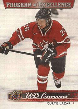 CURTIS LAZAR Memorabilia Hockey Card