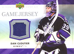 DAN CLOUTIER Memorabilia Hockey Card