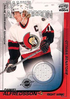 DANIEL ALFREDSSON Memorabilia Hockey Card