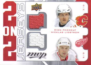 DION PHANEUF / NICKLAS LIDSTROM / SCOTT NIEDERMAYER / ZDENO CHARA Memorabilia Hockey Card