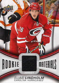 ELIAS LINDHOLM Memorabilia Hockey Card