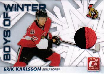 ERIK KARLSSON Memorabilia Hockey Card