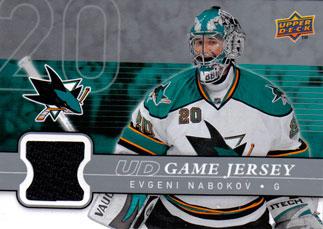 EVGENI NABOKOV Memorabilia Hockey Card