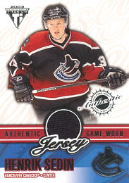 HENRIK SEDIN Memorabilia Hockey Card