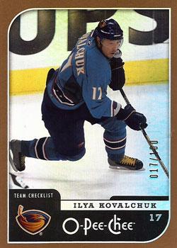 ILYA KOVALCHUK Memorabilia Hockey Card