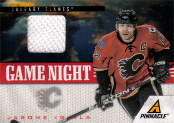JAROME IGINLA Memorabilia Hockey Card