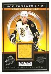 JOE THORNTON Memorabilia Hockey Card