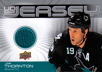 JOE THORNTON Memorabilia Hockey Card