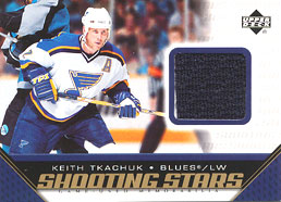 KEITH TKACHUK Memorabilia Hockey Card