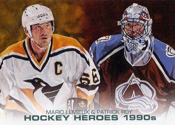 MARIO LEMIEUX /PATRICK ROY Memorabilia Hockey Card