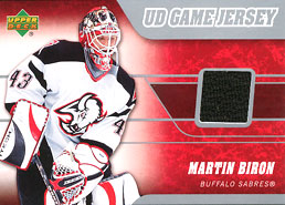 MARTIN BIRON Memorabilia Hockey Card