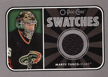 MARTY TURCO Memorabilia Hockey Card