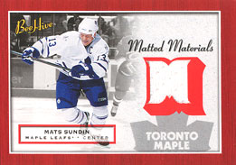 MATS SUNDIN Memorabilia Hockey Card