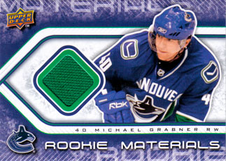 MICHAEL GRABNER Memorabilia Hockey Card