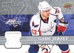 MIKE GREEN Memorabilia Hockey Card