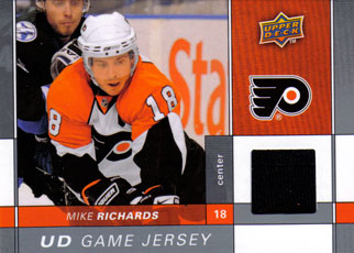 MIKE RICHARDS Memorabilia Hockey Card