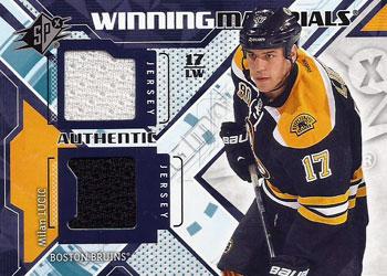 MILAN LUCIC Memorabilia Hockey Card