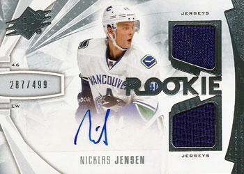 NICKLAS JENSEN Memorabilia Hockey Card