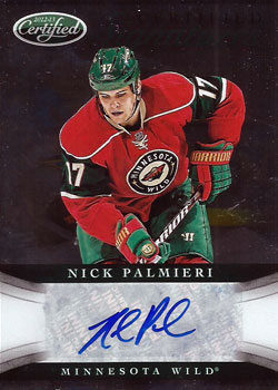 NICK PALMIERI Memorabilia Hockey Card