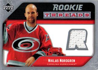 NIKLAS NORDGREN Memorabilia Hockey Card