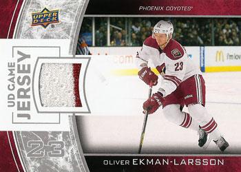 OLIVER EKMAN-LARSSON Memorabilia Hockey Card