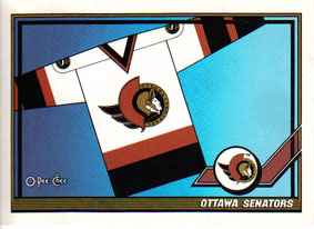 OTTAWA SENATORS Memorabilia Hockey Card