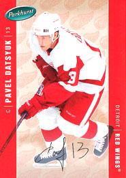 PAVEL DATSYUK Memorabilia Hockey Card
