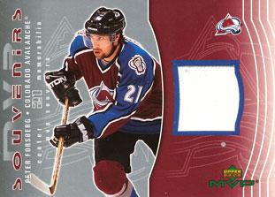 PETER FORSBERG Memorabilia Hockey Card