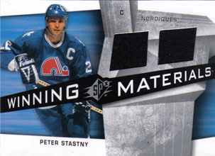PETER STASTNY Memorabilia Hockey Card