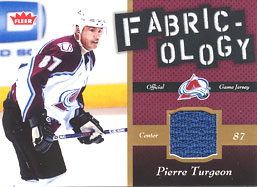 PIERRE TURGEON Memorabilia Hockey Card