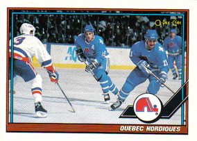 QUEBEC NORDIQUES Memorabilia Hockey Card