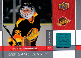RICHARD BRODEUR Memorabilia Hockey Card