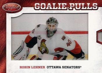 ROBIN LEHNER Memorabilia Hockey Card