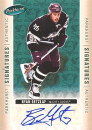 RYAN GETZLAF Memorabilia Hockey Card