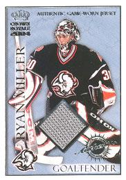 RYAN MILLER Memorabilia Hockey Card