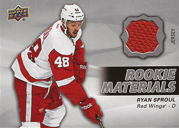 RYAN SPROUL Memorabilia Hockey Card