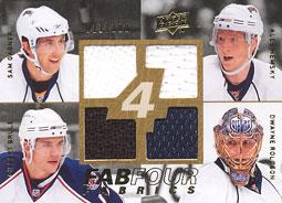 SAM GAGNER /ALES HEMSKY /GILBERT BRULE /DWAYNE ROLOSON Memorabilia Hockey Card