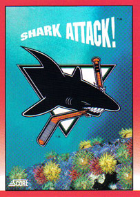 SAN JOSE SHARKS Memorabilia Hockey Card