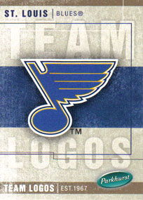 ST-LOUIS BLUES Memorabilia Hockey Card