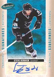 STEVE BERNIER Memorabilia Hockey Card