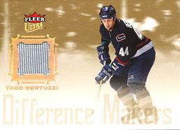 TODD BERTUZZI Memorabilia Hockey Card
